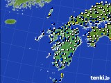 九州地方のアメダス実況(風向・風速)(2020年02月17日)