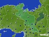 京都府のアメダス実況(風向・風速)(2020年02月17日)