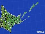 道東のアメダス実況(風向・風速)(2020年02月17日)