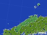島根県のアメダス実況(風向・風速)(2020年02月17日)