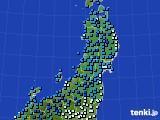 2020年02月18日の東北地方のアメダス(気温)