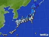 アメダス実況(気温)(2020年02月18日)