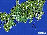 2020年02月18日の東海地方のアメダス(風向・風速)