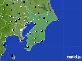 2020年02月18日の千葉県のアメダス(風向・風速)