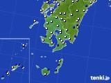 鹿児島県のアメダス実況(風向・風速)(2020年02月18日)