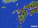 九州地方のアメダス実況(日照時間)(2020年02月19日)
