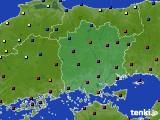 岡山県のアメダス実況(日照時間)(2020年02月19日)