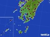 鹿児島県のアメダス実況(日照時間)(2020年02月19日)