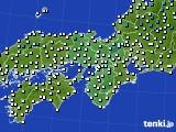 2020年02月19日の近畿地方のアメダス(気温)