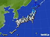 アメダス実況(気温)(2020年02月19日)
