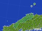 島根県のアメダス実況(気温)(2020年02月19日)