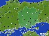 岡山県のアメダス実況(気温)(2020年02月19日)