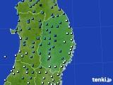 岩手県のアメダス実況(気温)(2020年02月19日)