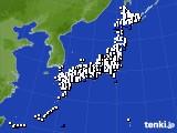 アメダス実況(風向・風速)(2020年02月19日)