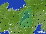 滋賀県のアメダス実況(風向・風速)(2020年02月19日)