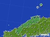 島根県のアメダス実況(風向・風速)(2020年02月19日)