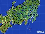 関東・甲信地方のアメダス実況(日照時間)(2020年02月20日)