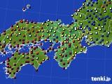 近畿地方のアメダス実況(日照時間)(2020年02月20日)