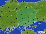 岡山県のアメダス実況(日照時間)(2020年02月20日)