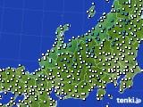 北陸地方のアメダス実況(気温)(2020年02月20日)