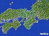 2020年02月20日の近畿地方のアメダス(気温)