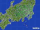 関東・甲信地方のアメダス実況(風向・風速)(2020年02月20日)