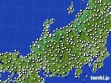 北陸地方のアメダス実況(風向・風速)(2020年02月20日)