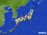 アメダス実況(気温)(2020年02月21日)