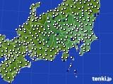 関東・甲信地方のアメダス実況(風向・風速)(2020年02月21日)