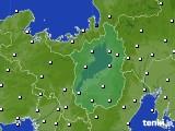 滋賀県のアメダス実況(風向・風速)(2020年02月21日)