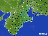 三重県のアメダス実況(降水量)(2020年02月22日)