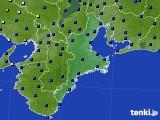 三重県のアメダス実況(日照時間)(2020年02月22日)