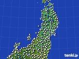 2020年02月22日の東北地方のアメダス(気温)