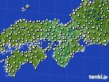 2020年02月22日の近畿地方のアメダス(気温)