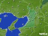 2020年02月22日の大阪府のアメダス(気温)