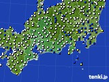 2020年02月22日の東海地方のアメダス(風向・風速)