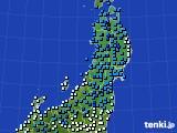 2020年02月23日の東北地方のアメダス(気温)
