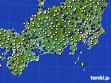 2020年02月23日の東海地方のアメダス(風向・風速)