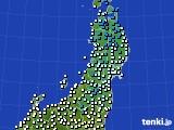 2020年02月24日の東北地方のアメダス(気温)