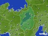 滋賀県のアメダス実況(風向・風速)(2020年02月24日)