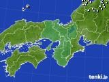 近畿地方のアメダス実況(降水量)(2020年02月25日)