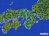 近畿地方のアメダス実況(日照時間)(2020年02月25日)