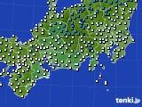 2020年02月26日の東海地方のアメダス(気温)