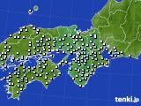 近畿地方のアメダス実況(降水量)(2020年02月29日)
