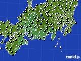 2020年02月29日の東海地方のアメダス(風向・風速)