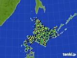 北海道地方のアメダス実況(積雪深)(2020年03月01日)