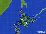 北海道地方のアメダス実況(日照時間)(2020年03月01日)