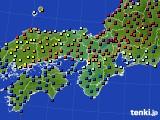 近畿地方のアメダス実況(日照時間)(2020年03月01日)