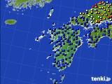 九州地方のアメダス実況(日照時間)(2020年03月01日)