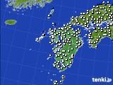 九州地方のアメダス実況(風向・風速)(2020年03月01日)